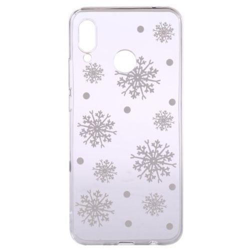 Epico etui na telefon z tworzywa sztucznego huawei p20 lite white snowflakes (8596049105896)