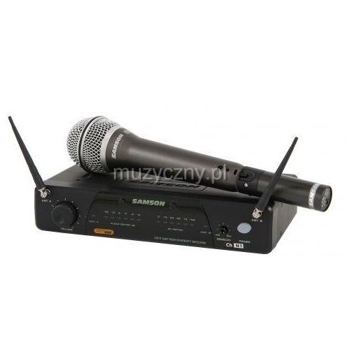 Samson Airline 77 Handheld System N3 zestaw bezprzewodowy z uniwersalnym nadajnikiem AX1 typu ″plug-on″ i mikrofonem dynamicznym Q7, 644,125 MHz