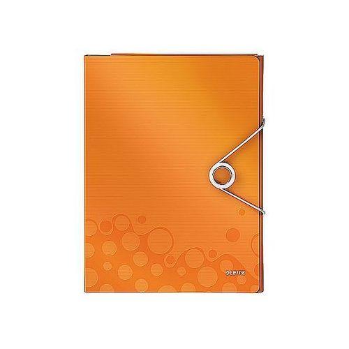 Organizer Leitz WOW na 160 kartek A4 metaliczny pomarańczowy 46360044