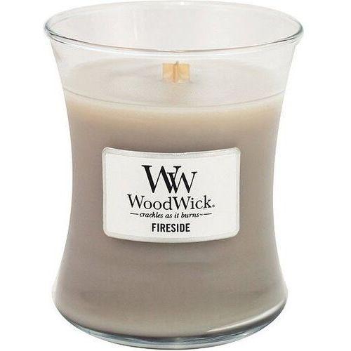 WoodWick - Fireside - świeca zapachowa - ambra, wetiwer i piżmo (czas palenia: do 100 godzin)