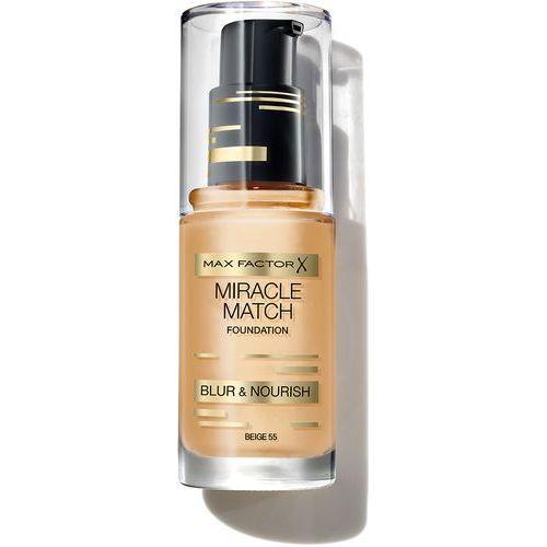 miracle match podkład do twarzy o działaniu nawilżającym 55 beige - 55 beige marki Max factor