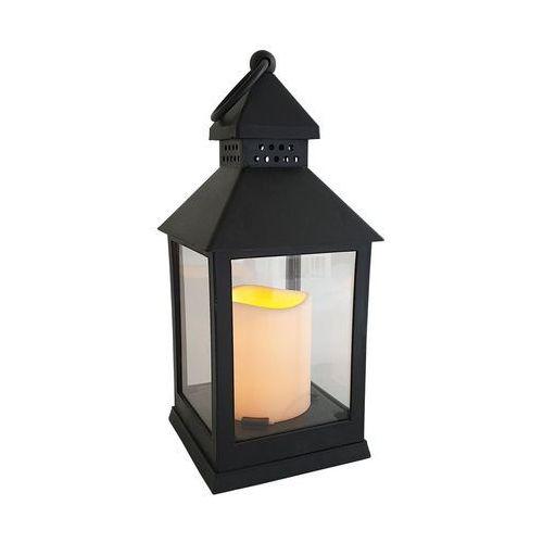 Latarenka LED ze świecą 24.5 x 10 cm czarna na baterie (5907520025894)