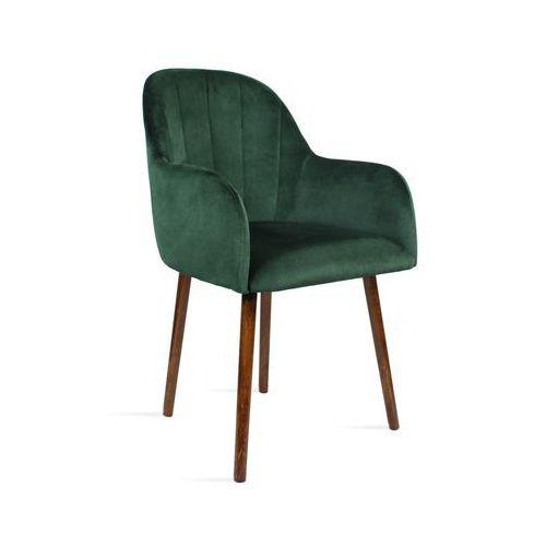 Krzesło BESSO zielony/ noga orzech/ SO260, 28 dni roboczych