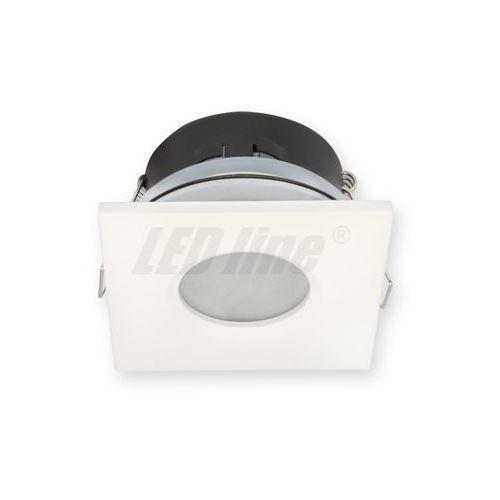 Led line Oprawa halogenowa sufitowa wodoodporna, kwadratowa, stała, odlew, aluminium - biały matowy (5901583245374)