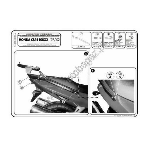 Stelaż pod kufer centralny do Honda CBR1100XX [97-08] - Givi 248F (zgodny z Kappa K2480)