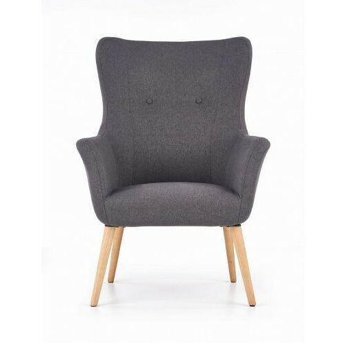Fotel tapicerowany COTTO ciemny popiel