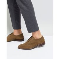suede brogues in tan - stone, River island