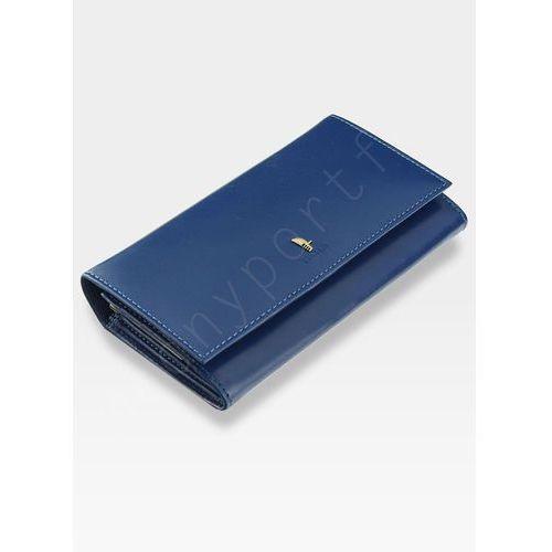 ddaa5f3b0cf18 ... Portfel Damski Skórzany PUCCINI Rozbudowany Niebieskie 1705P -  Niebieski ...