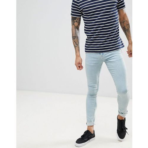 New look skinny fit jeans in bleach blue wash - blue
