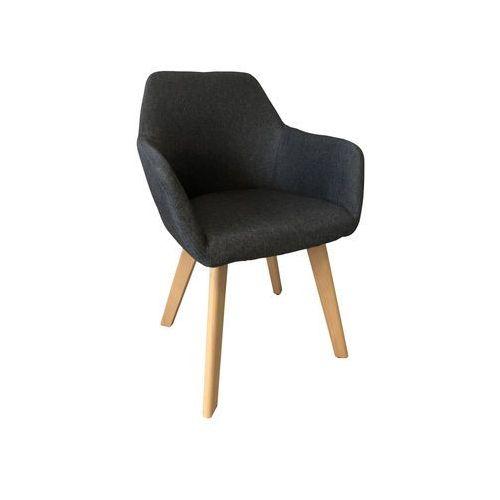 Nowoczesne krzesło tapicerowane z podłokietnikami monaco dark grey marki Exitodesign