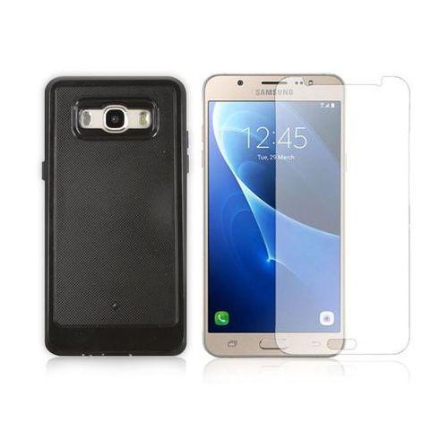 Etui Luxury Armor Samsung Galaxy J7 2016 + Szkło hartowane - Czarny