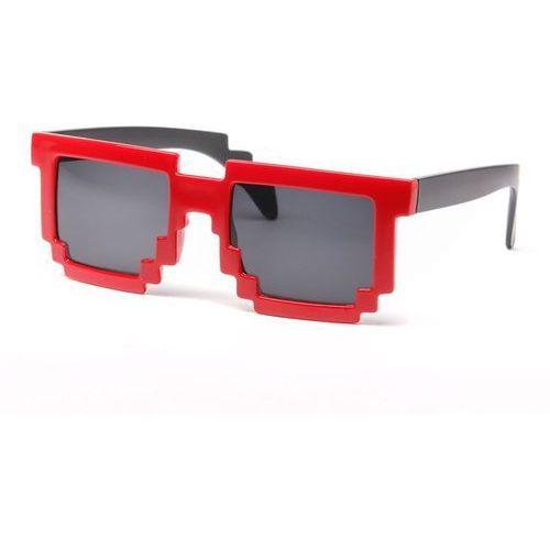 Pikselowe okulary 8 bit pixel - czerwone - czerwony marki Gadget master