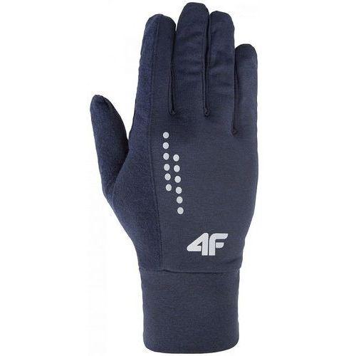 4f Rękawiczki reu001 h4z17 denim melanż s - s