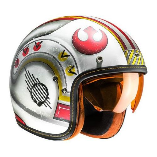 KASK HJC FG-70S X-WING FIGHTER PILOT SILVER/RED