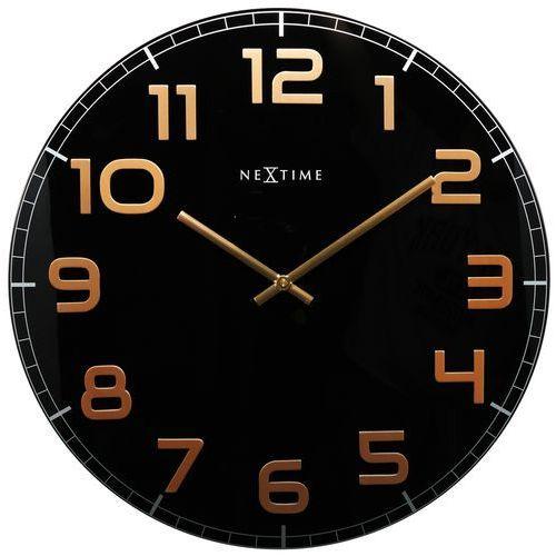 Zegar classy large 50 cm black&copper marki Nextime