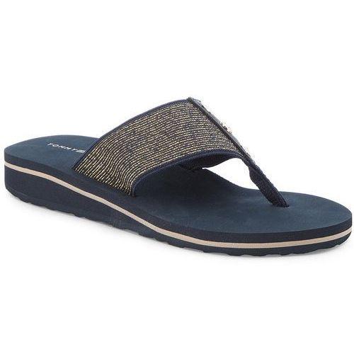 fba6e0c49dfdf Japonki - elevated metallic beach sandal fw0fw02393 midnight 403 marki Tommy  hilfiger