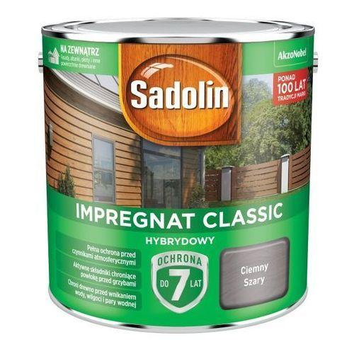 Impregnat do drewna Sadolin Hybrydowy ciemny szary 2,5 l, 5327508