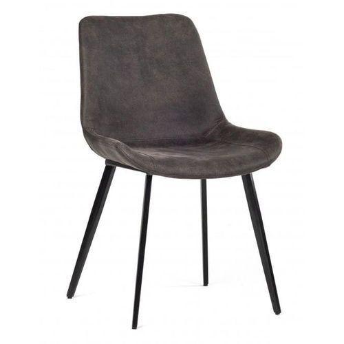 Krzesło Romo szary ciemny (grafitowy), kolor szary