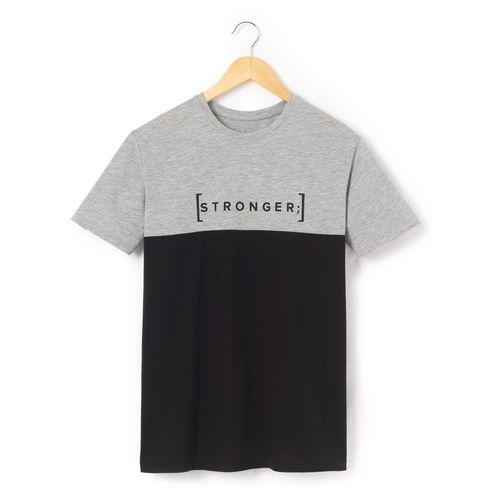 R pop T-shirt dwukolorowy 10-16 lat z nadrukiem stronger