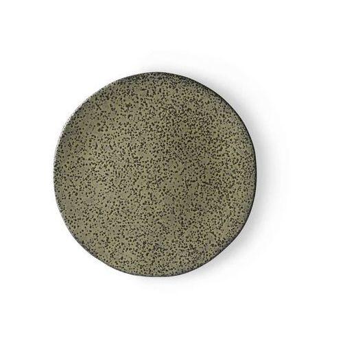 ceramika gradientowa: talerz zielony ace6898 marki Hk living