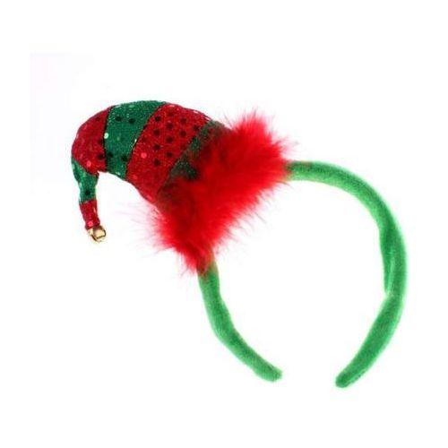 Opaska z cekinową czapeczką Elfa 11 x 8 cm