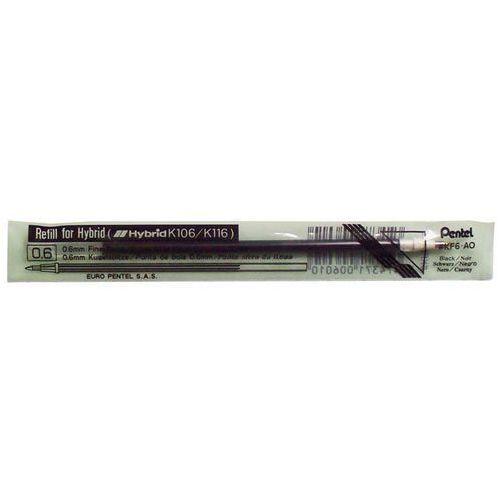 Pentel Wkład do długopisu żelowego kf6a czarny 12 sztuk