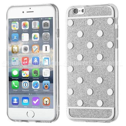 WOZINSKY żelowy pokrowiec Shiny Case brokat iPhone 6S 6 kropki srebrny - Srebrny, kup u jednego z partnerów