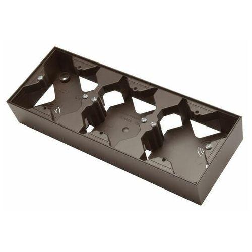 sonata pnp-3r/40 puszka instalacyjna do serii sonatapotrójna czekoladowy metal marki Ospel