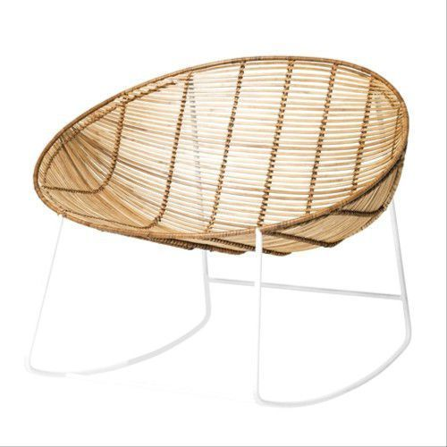 Bloomingville Bujany fotel rattanowy orinoco, biały -