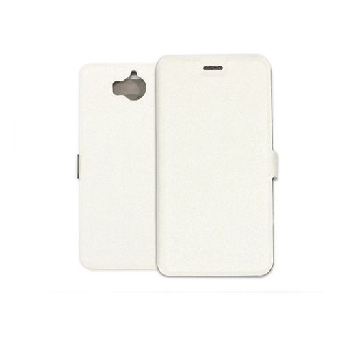 Huawei Y5 (2017) - etui na telefon Wallet Book - biały, kolor biały