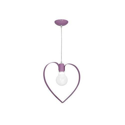 Decoland Dziecięca lampa wisząca love 1xe27/60w/230v fioletowa
