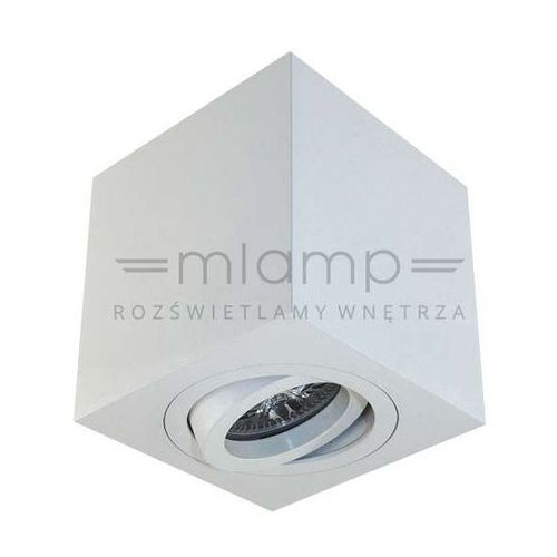 Spot LAMPA sufitowa LAGO bianco Orlicki Design regulowana OPRAWA metalowa kostka cube biała (1000000281231)