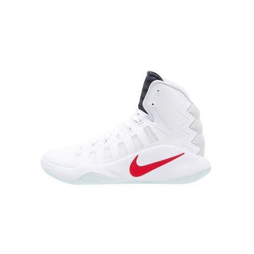 Nike Performance HYPERDUNK 2016 Obuwie do koszykówki white/dark obsidian/bright crimson - produkt z kategorii- Koszykówka