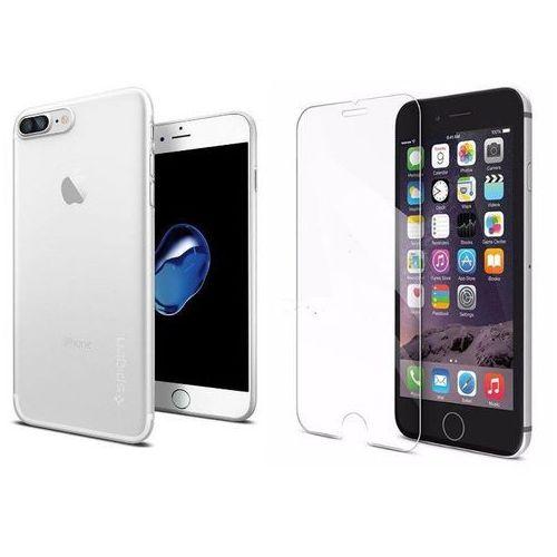 Sgp - spigen / perfect glass Zestaw | spigen sgp airskin black | obudowa + szkło ochronne perfect glass dla modelu apple iphone 7 plus