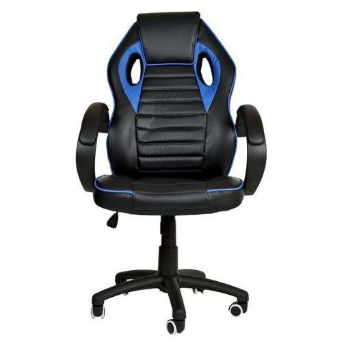 Import Fotel gamingowy obrotowy (styl racer) wybierz kolor: biały, czerwony, niebieski niebieski