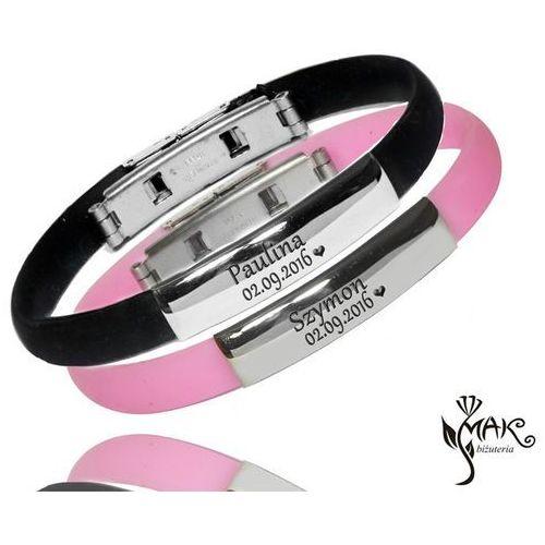 Br345 komplet bransoletek z grawerem dla pary marki Mak-biżuteria