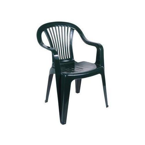 Krzesło ogrodowe BERYL plastikowe zielone