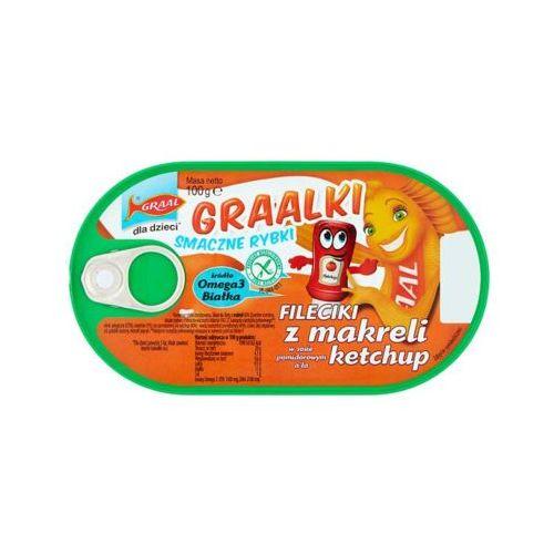 GRAAL 100g Graalki Fileciki z makreli w sosie pomidorowym a'la ketchup Dla dzieci