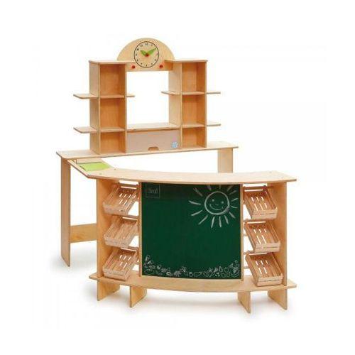 Stragan drewniany do zabaw w sklep premium xl - zabawki dla dzieci marki Erzi