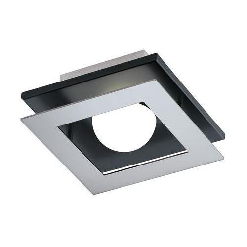 Plafon lampa sufitowa bellamonte 94229  metalowa oprawa led 3,3w kwadrat chrom czarny wyprodukowany przez Eglo