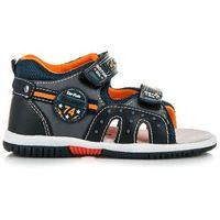 Chłopięce sandałki na rzepy - odcienie niebieskiego marki American club