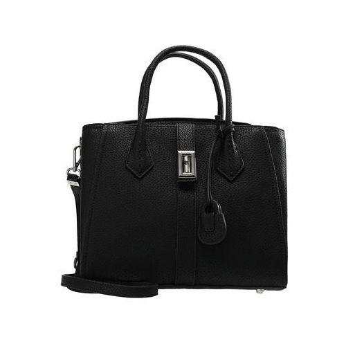 Trussardi Jeans SUZANNE SMOOTH TOTE MEDIUM BAG Torebka black, kolor czarny