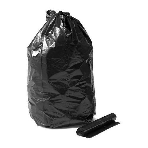 Grube worki na odpady, 15 rolek (10 sztuk/rolka), 125 l, czarny marki Aj produkty
