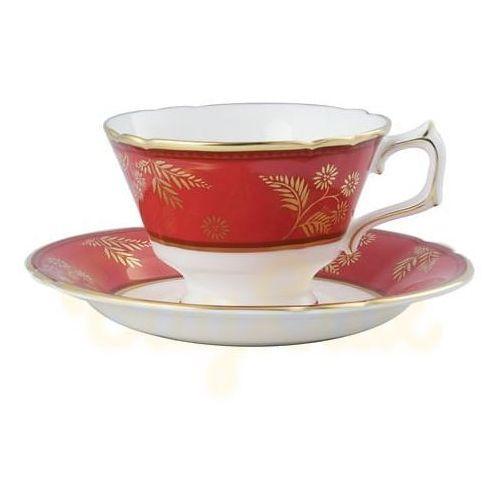 Royal Crown Derby India Red Spodeczek Do Filiżanki Do Herbaty