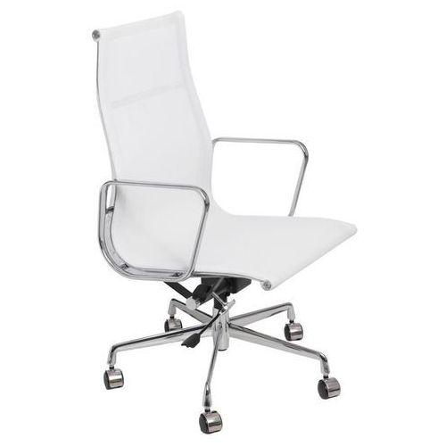 Fotel biurowy ch1191t biała siatka - biały marki D2.design