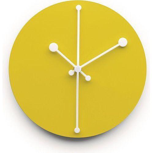Zegar ścienny Dotty żółty (8003299399086)