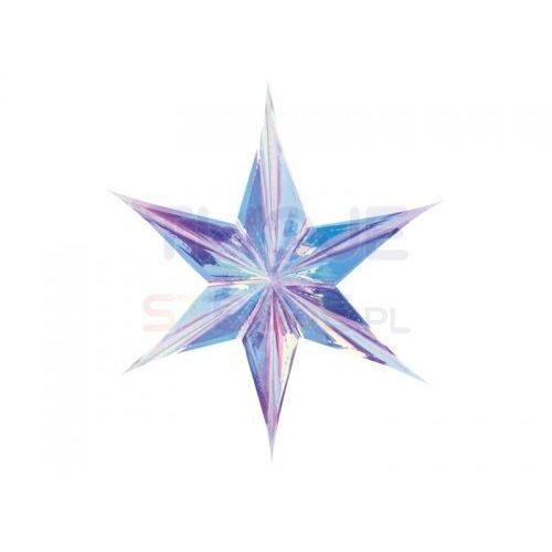 Dekoracja wisząca gwiazda foliowa opalizująca 40cm marki Twojestroje.pl