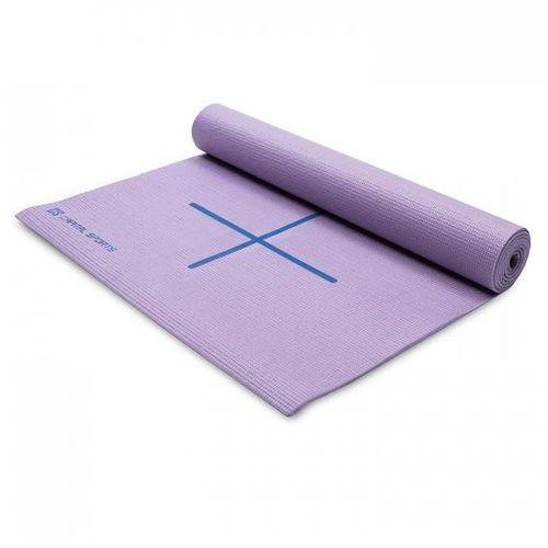 Mata do jogi mata gimnastyczna 173 x 60cm lila torba na ramię marki Capital sports