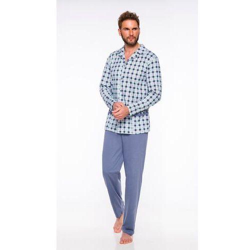 Piżama męska roch 532 niebieski melanż marki M-max