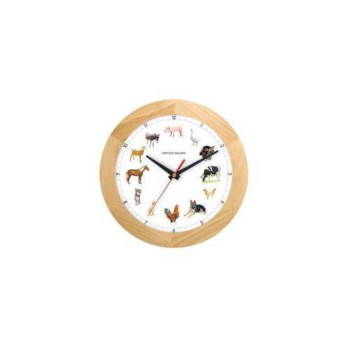 Atrix Zegar drewniany z głosami zwierząt solid #2